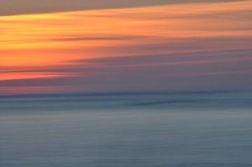 le soleil disparaît dans l'abstraction sur Bianca Dekkers-van Uden