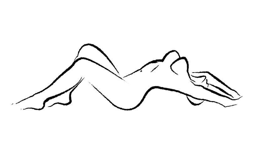 Stretching naked woman von Sexy Art77