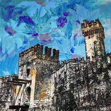 kasteel in Sirmione, Italie  van Joke te Grotenhuis