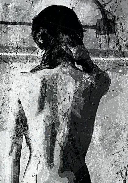 Taking a shower - black white van PictureWork - Digital artist