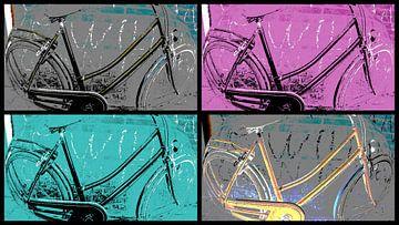 Collage Bicycle 2 van Nicky`s Prints