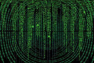 Matrixcode auf einem Bildschirm von Atelier Liesjes