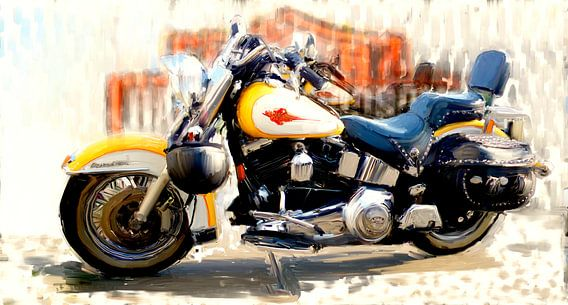Een Harley telt voor twee van Frans Jonker