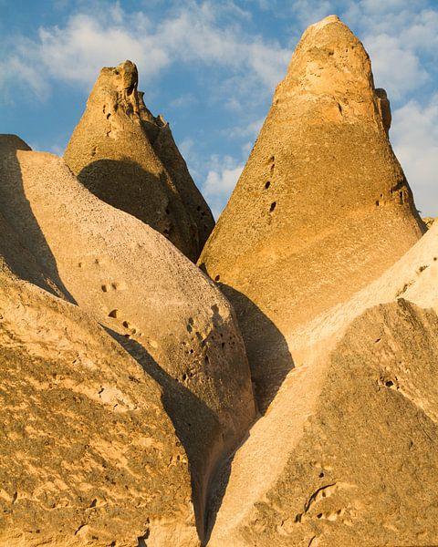 Rotsformaties in Cappadocie, Turkije van Johan Zwarthoed