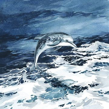 Dolfijnen spelen van Karin Schwarzgruber