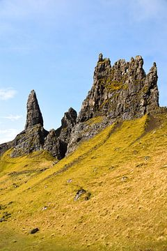Rotsformatie op Isle of Skye