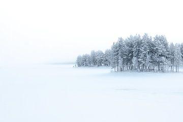 Bevroren meer in Noorwegen van Peter Boon