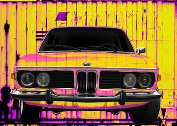BMW 3.0 E9 Art Car in Neon Colors von aRi F. Huber