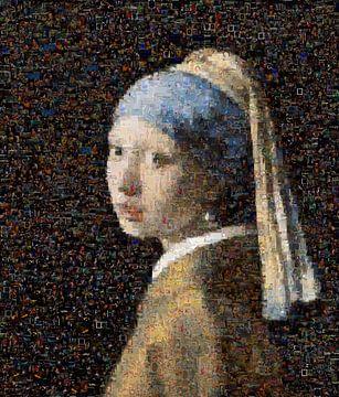 Mädchen mit Perlenohrring Mosaik