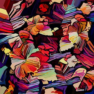 Hibiscus sous les palmiers sur Andreas Wemmje