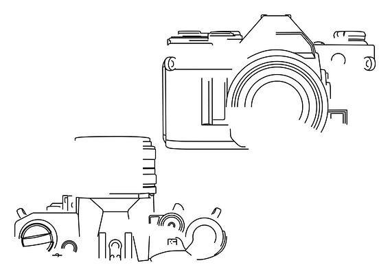 Analoge Camera Silhouet (Canon AE-1-style)