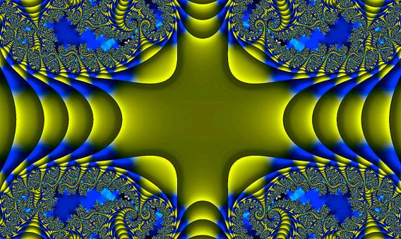 fractal (cross) van Frans Beer
