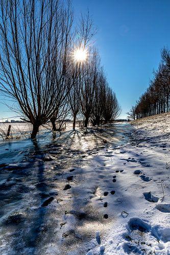Historisch Winters Landschap in Amerongen
