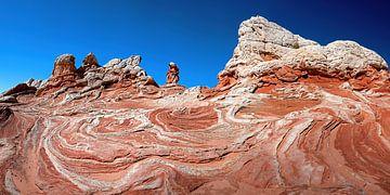 White Pocket swirl in Arizona (USA) van Jan Roeleveld