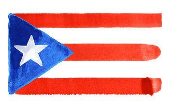 Symbolische nationale vlag van Puerto Rico van Achim Prill