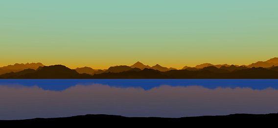 Coucher de soleil dans les montagnes 8