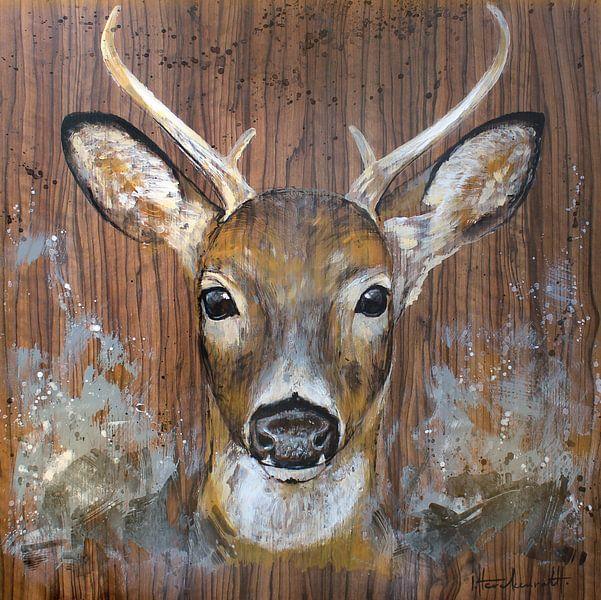 Curious deer van Atelier Paint-Ing