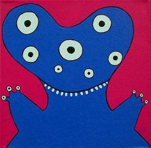 Blauw Monstertje van