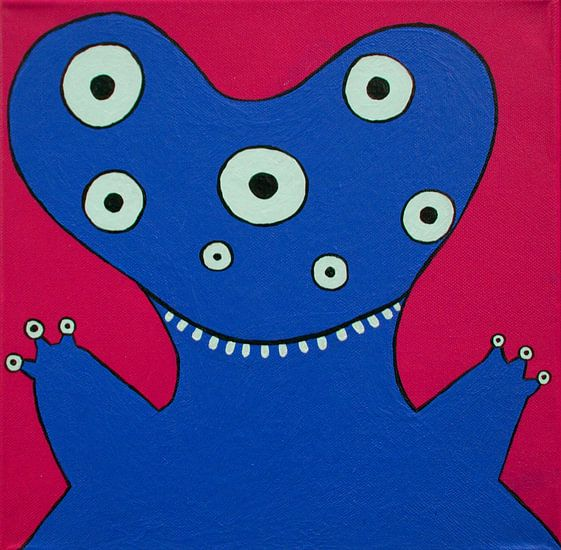 Blauw Monstertje van Studio Fantasia