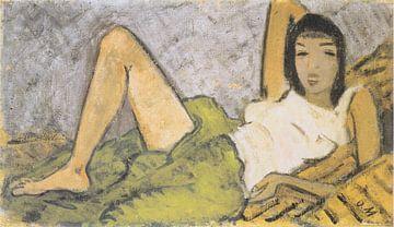Liegendes Mädchen, Otto Mueller - 1914