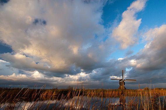 Hollandse luchten boven de Broekmolen van Peter Halma