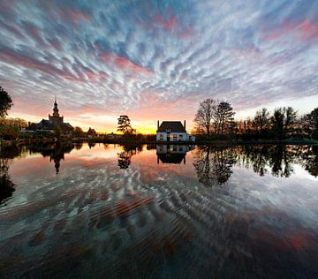 Zonsondergang Veerhuis, Overschie Rotterdam van JSTRA