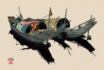 Boote Vietnam von Pieter Hogenbirk