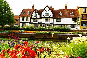 Haus an den Westgate-Gärten - Canterbury England von Loretta's Art