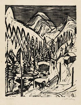 Winter im Sertigstraße, ERNST LUDWIG KIRCHNER, 1924
