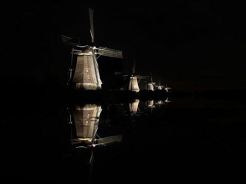 Illuminati, floating in the night