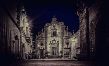 Kerk in Forza D' Agro op Sicilie van Mario Calma