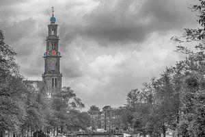 Zicht op de Westertoren Amsterdam