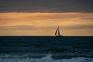 Segelschiff auf See von Paul Veen
