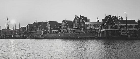 Haven Volendam in zwart wit