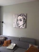 Klantfoto: De uitdrukking van een vrouw van Eva van den Hamsvoort