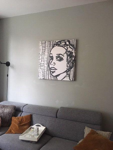 Kundenfoto: Der Ausdruck einer Frau von Eva van den Hamsvoort