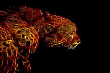 Jachtluipaard-Vlammend van Leo Huijzer