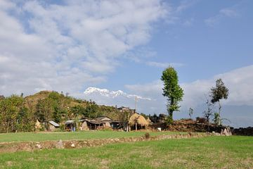 Himalaya bergdorp von Wiljo van Essen