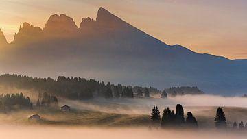 Zonsopkomst in Alpe di Siusi