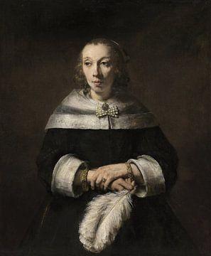 Bildnis einer Dame mit Straußenfederfächer, Rembrandt
