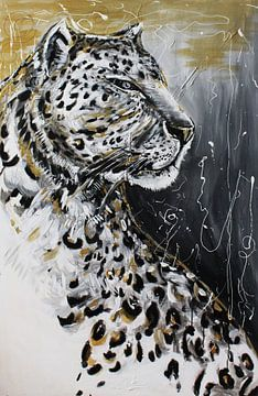 Jaguar-abstract van Ferry Geutjes