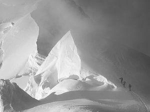 Alpinisten op de Mont Blanc