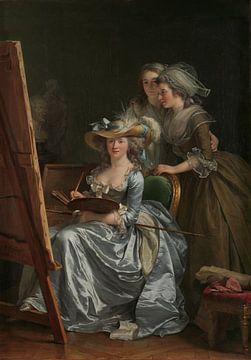 Adélaïde Labille-Guiard, Autoportrait avec deux élèves, 1785 sur Atelier Liesjes