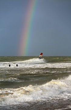 Windsurfer op zee van MSP Canvas