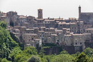 Uitzicht op Sorano, Toscane