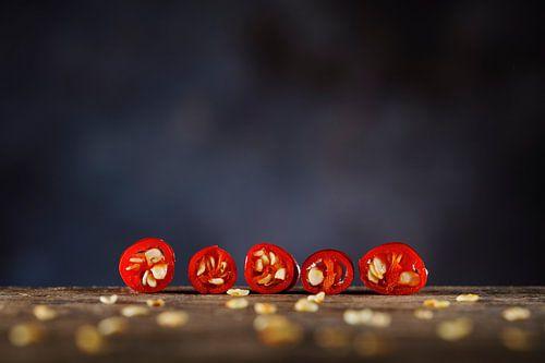 Gesneden Rode Peper