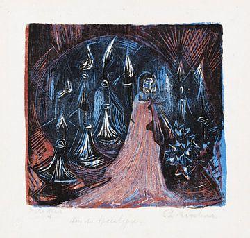 Der Mann mit dem zweischneidigen Schwert. - Vision der sieben Leuchter, ERNST LUDWIG KIRCHNER, 1918 von Atelier Liesjes