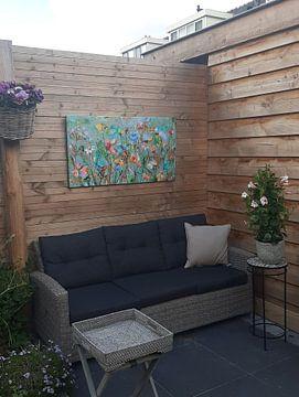 Photo de nos clients: Champ de fleurs sauvages sur Atelier Paint-Ing