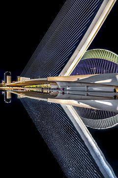 Moderne Brücke in der spanischen Stadt Valencia von Harrie Muis