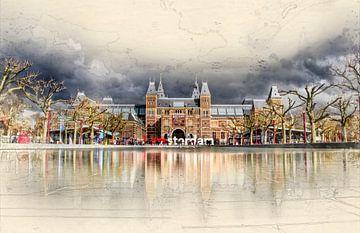 Amsterdam Museumplein von Peter Roder